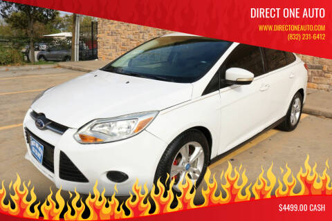 2013 Ford Focus for sale at Direct One Auto in Houston TX