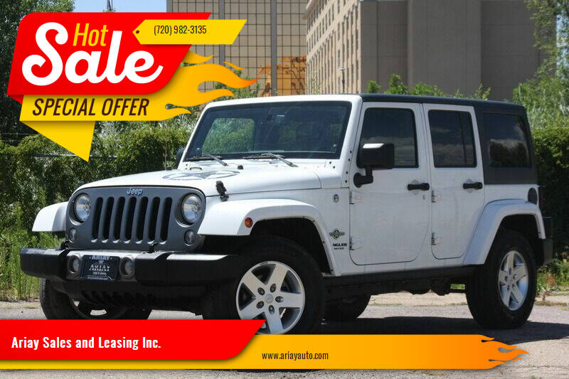 2014 Jeep Wrangler Unlimited for sale at Ariay Sales and Leasing Inc. - Pre Owned Storage Lot in Glendale CO