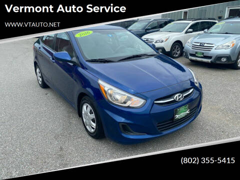 2016 Hyundai Accent for sale at Vermont Auto Service in South Burlington VT