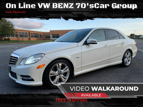2012 Mercedes-Benz E-Class for sale at On Line VW BENZ 70'sCar Group in Warehouse CA