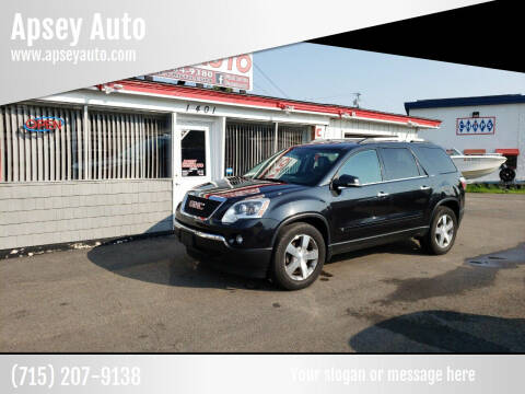 2010 GMC Acadia for sale at Apsey Auto in Marshfield WI