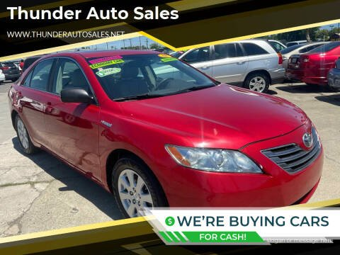 2008 Toyota Camry Hybrid for sale at Thunder Auto Sales in Sacramento CA