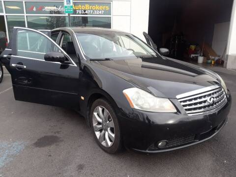 2007 Infiniti M35 for sale at M & M Auto Brokers in Chantilly VA