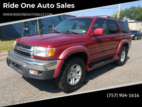 2002 Toyota 4Runner for sale at Ride One Auto Sales in Norfolk VA