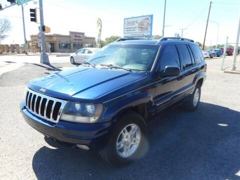 2002 Jeep Grand Cherokee for sale at AUGE'S SALES AND SERVICE in Belen NM