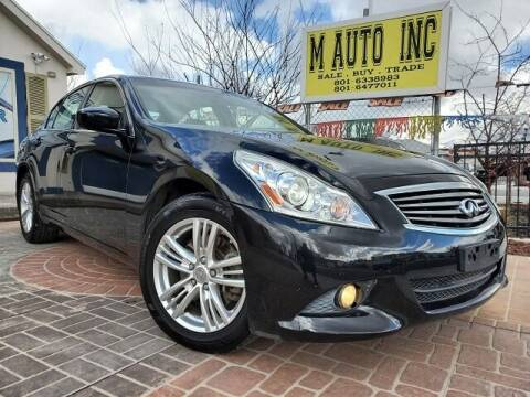 2013 Infiniti G37 Sedan for sale at M AUTO, INC in Millcreek UT