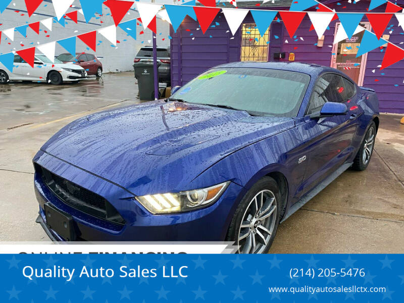 2015 Ford Mustang for sale at Quality Auto Sales LLC in Garland TX