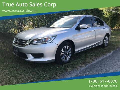 2014 Honda Accord for sale at True Auto Sales Corp in Miami FL