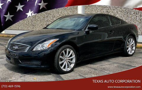 2009 Infiniti G37 Coupe for sale at Texas Auto Corporation in Houston TX