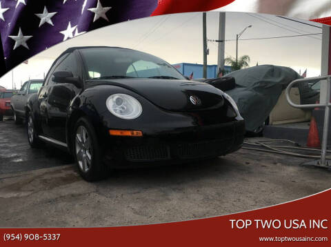 2008 Volkswagen New Beetle for sale at TOP TWO USA INC in Oakland Park FL