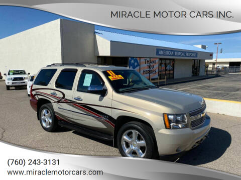 2011 Chevrolet Tahoe for sale at Miracle Motor Cars Inc. in Victorville CA