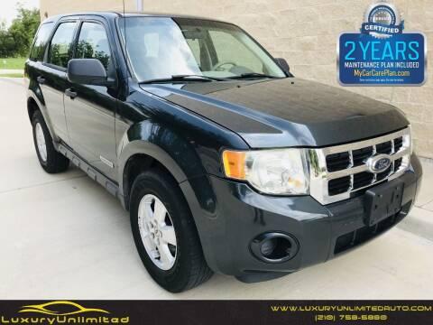 2008 Ford Escape for sale at LUXURY UNLIMITED AUTO SALES in San Antonio TX