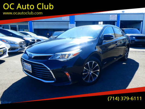 2018 Toyota Avalon Hybrid for sale at OC Auto Club in Midway City CA