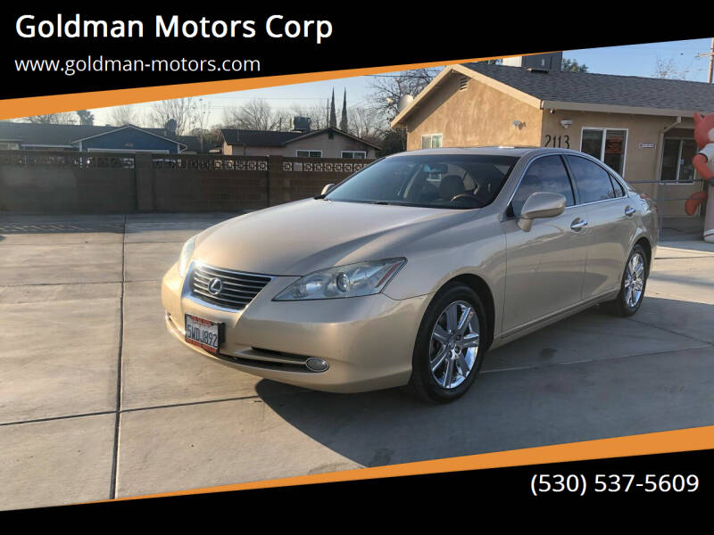 2007 Lexus ES 350 for sale at Goldman Motors Corp in Stockton CA