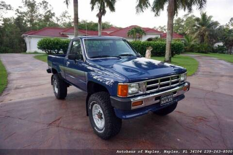 1986 Toyota Pickup for sale at Autohaus of Naples in Naples FL