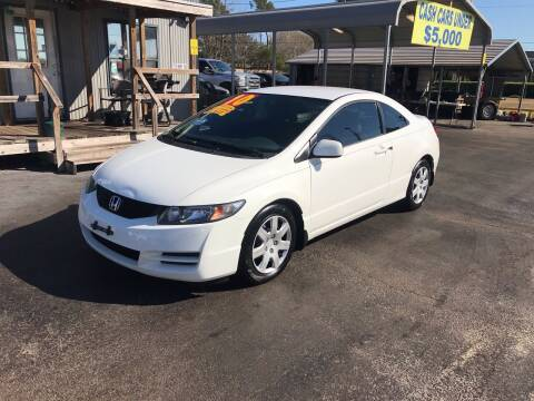 2010 Honda Civic for sale at Texas 1 Auto Finance in Kemah TX