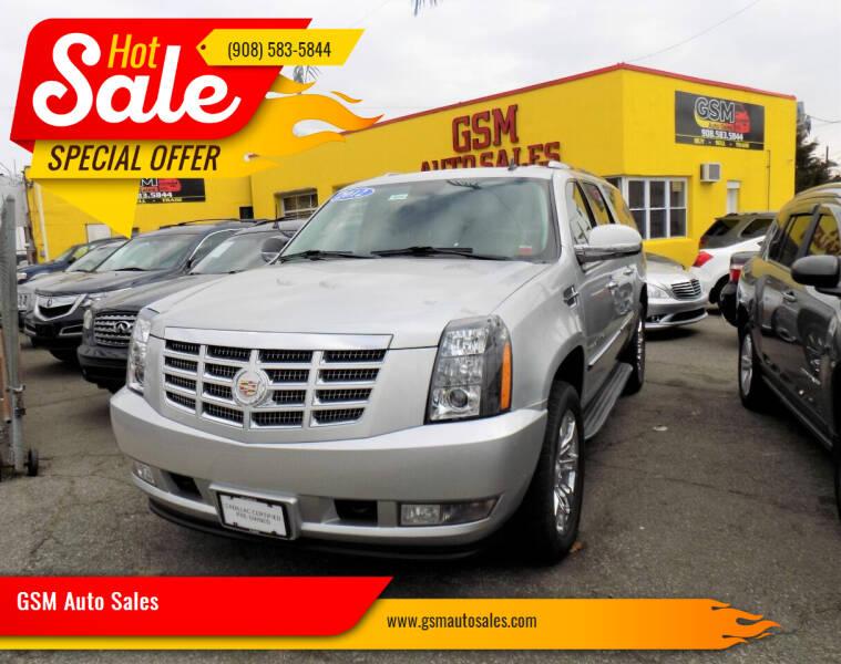 2012 Cadillac Escalade ESV for sale at GSM Auto Sales in Linden NJ