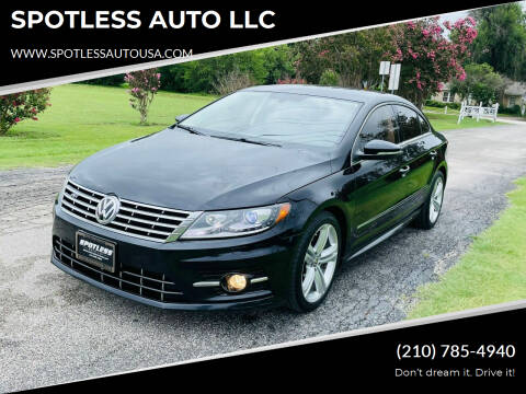 2015 Volkswagen CC for sale at SPOTLESS AUTO LLC in San Antonio TX