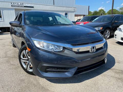 2016 Honda Civic for sale at KAYALAR MOTORS in Houston TX