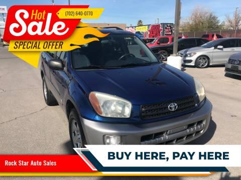 2002 Toyota RAV4 for sale at Rock Star Auto Sales in Las Vegas NV