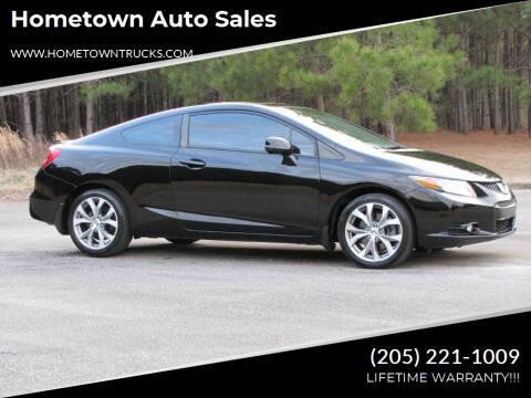 2012 Honda Civic for sale at Hometown Auto Sales - Cars in Jasper AL