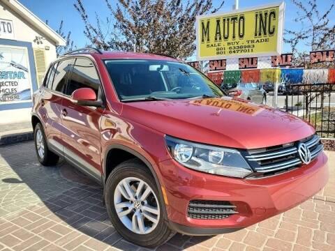 2015 Volkswagen Tiguan for sale at M AUTO, INC in Millcreek UT