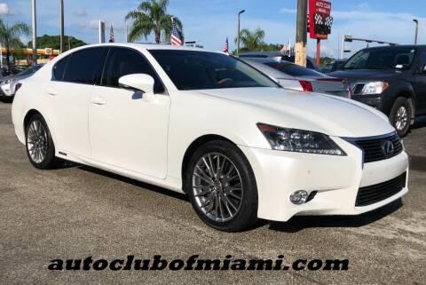 2014 Lexus GS 450h for sale at AUTO CLUB OF MIAMI, INC in Miami FL