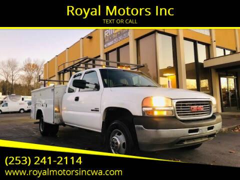 2001 GMC Sierra 3500 for sale at Royal Motors Inc in Kent WA