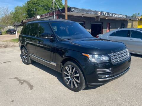2015 Land Rover Range Rover for sale at Texas Luxury Auto in Houston TX
