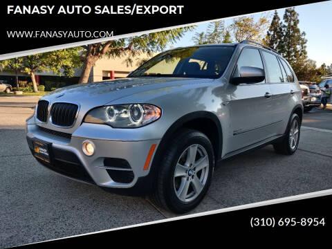 2013 BMW X5 for sale at FANASY AUTO SALES/EXPORT in Yorba Linda CA