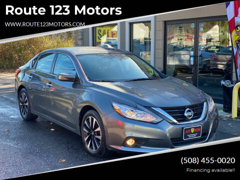 2018 Nissan Altima for sale at Route 123 Motors in Norton MA