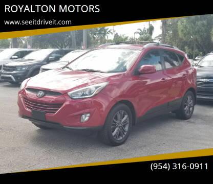 2014 Hyundai Tucson for sale at ROYALTON MOTORS in Plantation FL