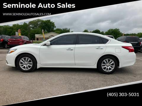 2017 Nissan Altima for sale at Seminole Auto Sales in Seminole OK