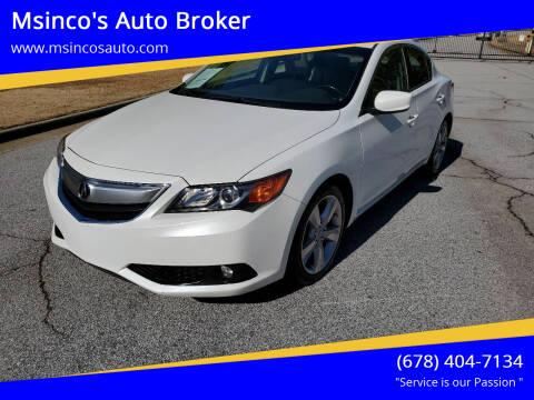 2015 Acura ILX for sale at Msinco's Auto Broker in Snellville GA