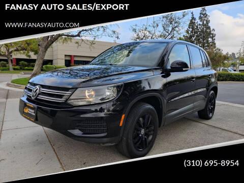 2013 Volkswagen Tiguan for sale at FANASY AUTO SALES/EXPORT in Yorba Linda CA