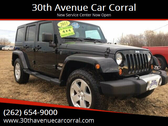 2011 Jeep Wrangler Unlimited for sale at 30th Avenue Car Corral in Kenosha WI