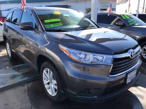 2016 Toyota Highlander for sale at CAR GENERATION CENTER, INC. in Los Angeles CA