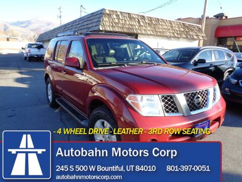 2007 Nissan Pathfinder for sale at Autobahn Motors Corp in Bountiful UT