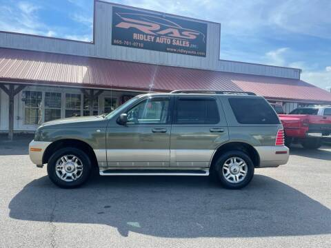 2004 Mercury Mountaineer for sale at Ridley Auto Sales, Inc. in White Pine TN