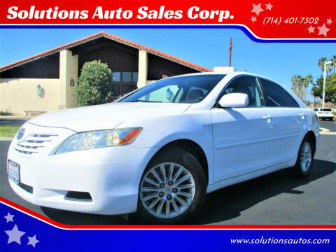 2007 Toyota Camry for sale at Solutions Auto Sales Corp. in Orange CA
