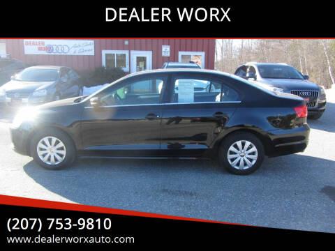 2013 Volkswagen Jetta for sale at DEALER WORX in Auburn ME