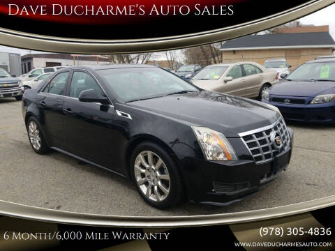 2012 Cadillac CTS for sale at Dave Ducharme's Auto Sales in Lowell MA