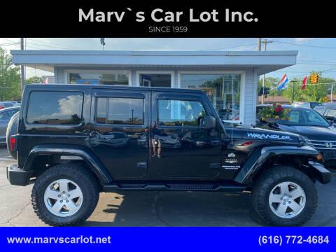 2012 Jeep Wrangler Unlimited for sale at Marv`s Car Lot Inc. in Zeeland MI