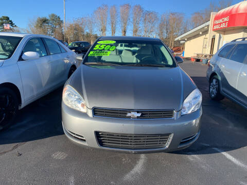 2007 Chevrolet Impala for sale at Doug White's Auto Wholesale Mart in Newton NC