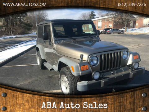 2004 Jeep Wrangler for sale at ABA Auto Sales in Bloomington IN