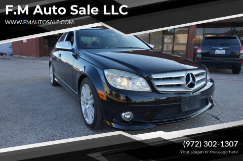 2009 Mercedes-Benz C-Class for sale at F.M Auto Sale LLC in Dallas TX