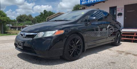 2008 Honda Civic for sale at P & A AUTO SALES in Houston TX