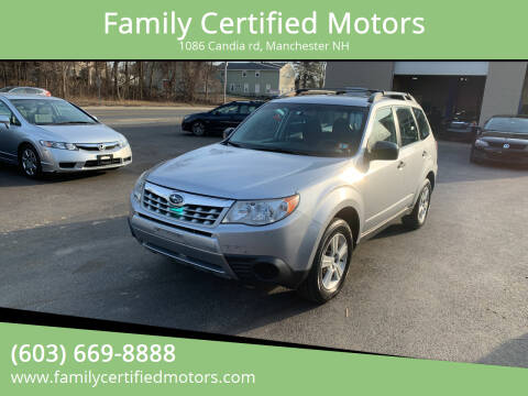 2013 Subaru Forester for sale at Family Certified Motors in Manchester NH