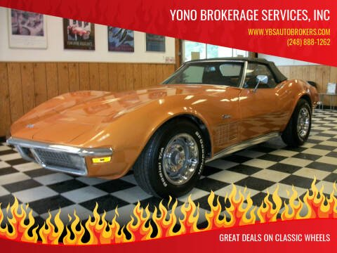 1971 Chevrolet Corvette for sale at Yono Brokerage Services, INC in Farmington MI