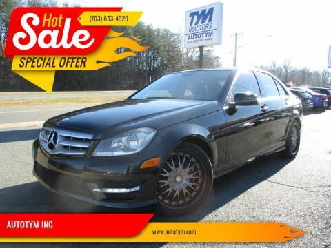 2012 Mercedes-Benz C-Class for sale at AUTOTYM INC in Fredericksburg VA